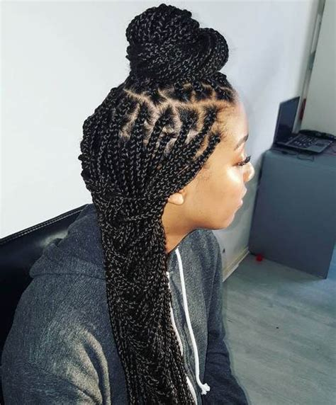 box braids cute styles to the side 50 exquisite box braids hairstyles to do yourself