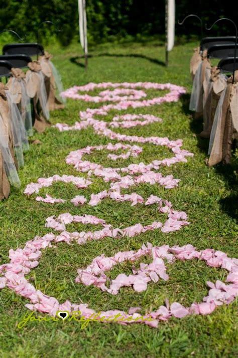 aisle decor petal decorations outdoor wedding ideas