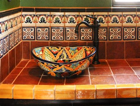 Mexican Bathroom Ideas Mexican Tile Mediterranean Bathroom By Clay Imports