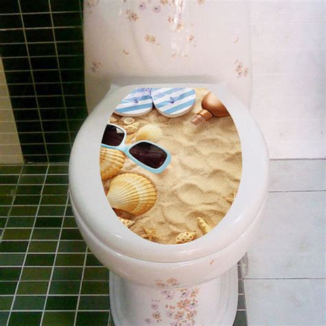 diy beach bathroom fundecor diy home decor waterproof pvc shell beach