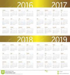 Indonesia Calendrier 2018 Calendar 2016 2017 2018 2019 Stock Photo Image 61292087