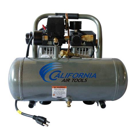 california air tools 1 6 gal 3 4 hp ultra and free aluminum tank air compressor 1675a