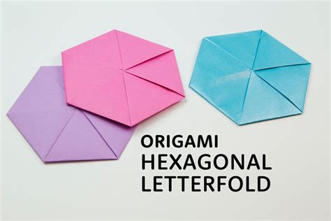 A4 Paper Folding - make a origami hexagonal letterfold using a4 paper