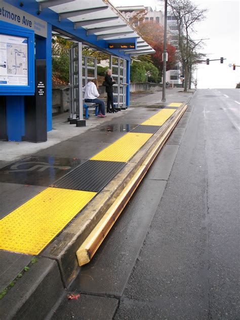 rubber st design transit curbs national association of city