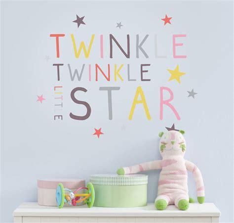 twinkle twinkle wall sticker twinkle twinkle wall sticker peenmedia