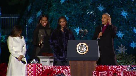 obama tree lighting president obama celebrates national tree