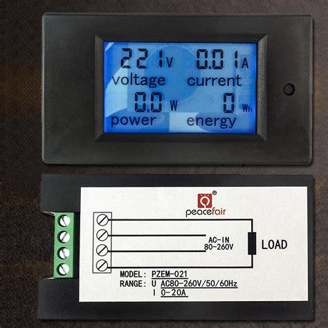 Fort Ac Digital Voltmeter 1display U Panel Metering ac 80v 260v 20a 4 in 1 digital lcd display digital current voltmeter ammeter power energy
