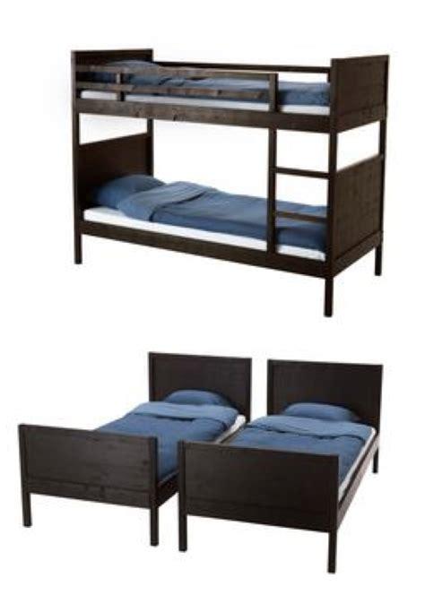 ikea norddal bunk bed norddal bunk bed frame black brown