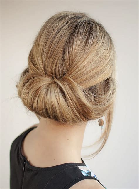 Hairstyles For Work by Rolled Up Bun For To Wear To Work