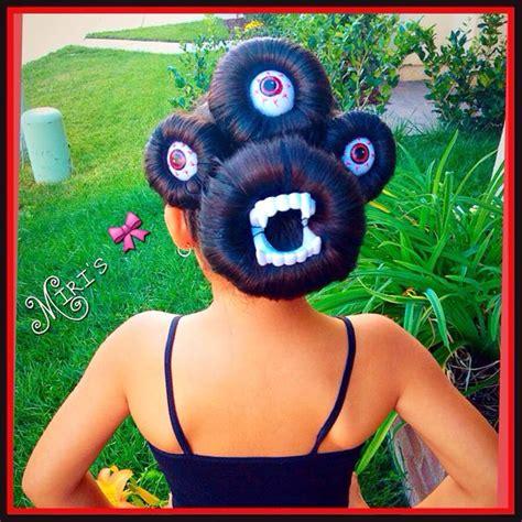 halloween hairstyles pinterest halloween hair style little monster my creation miris