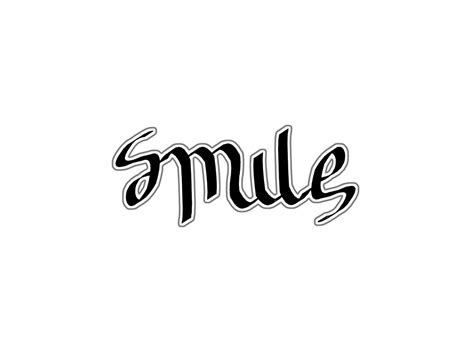 my ambigrams smile