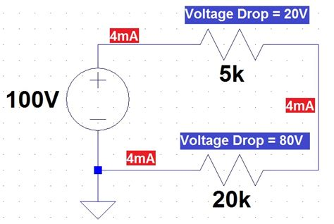 how to calculate voltage drop across one resistor to the rails ee fundamentals series and parallel part 2