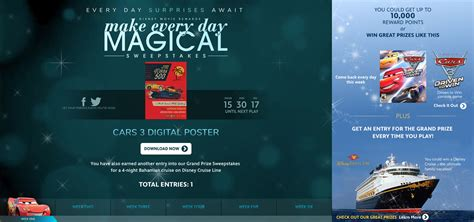 Disney Prizes Sweepstakes - disney movie rewards make every day magical sweepstakes features a grand prize disney