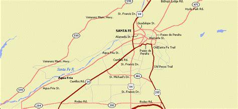 santa fe map santa fe location usa santa get free image about wiring diagram