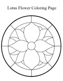 lotus flower mandala coloring page kids play color within