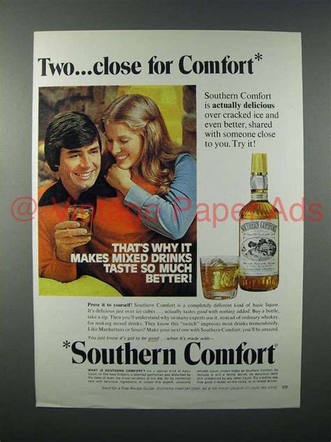 southern comfort ad 1975 southern comfort liquor ad two close