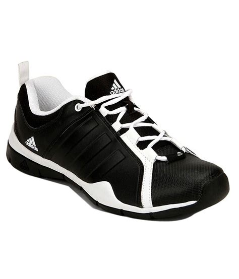 adidas black synthetic leather sports shoes price in india