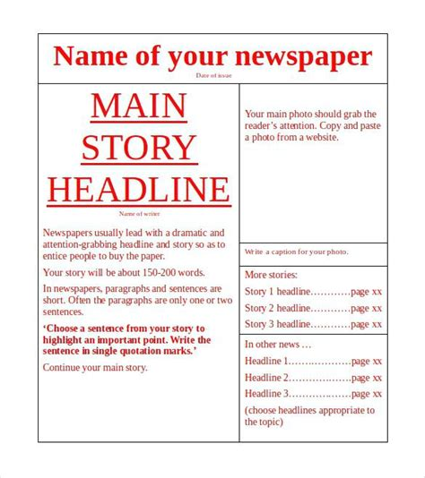 powerpoint newspaper template elegant obituary newspaper template