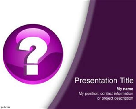 free question mark powerpoint template free powerpoint