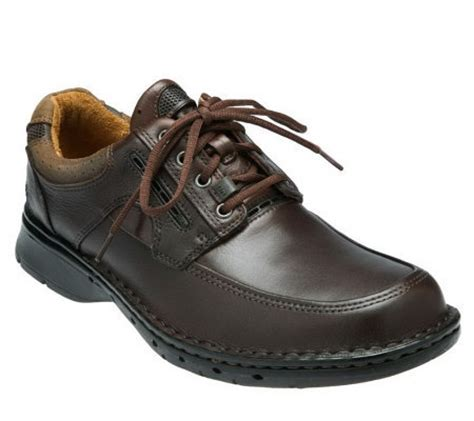 clarks s unstructured un bend leather laceup shoes