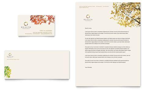 Health Insurance Company Business Card Letterhead Template Design Health Insurance Card Template