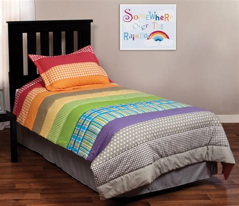 rainbow bedding rainbow connection twin bedding set trend lab