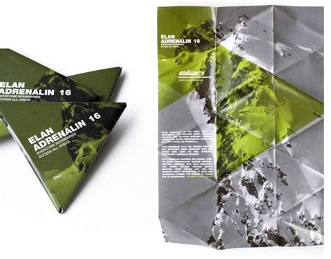 leaflet design and distribution triangle folding flyer scales down from a3 to pocket size