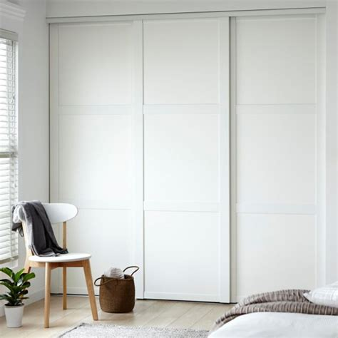Wall Closet With Sliding Wardrobe Doors Also 3 Sliding Bedroom Furniture Wardrobes Sliding Doors