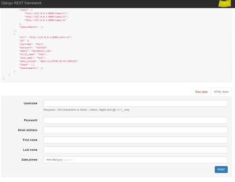 django creating login python django rest framework login stack overflow