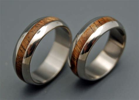 Wooden Wedding Rings Our One 5 by Wedding Ring Titanium Rings Wood Rings Titanium Wedding