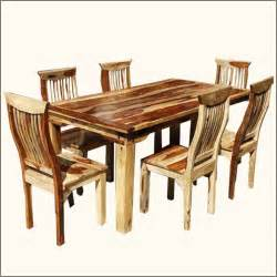solid wood dallas ranch dining table