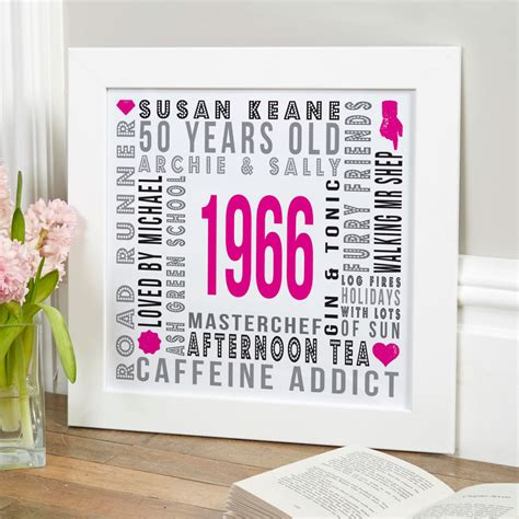 personalised gifts for birthdays typographic prints
