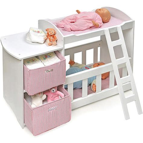 Crib For Dolls by Badger Basket Doll Crib And Changing Station Walmart
