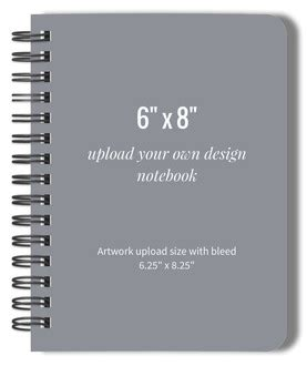 design your own hardcover journal upload your own design 6x8 hard cover journal upload