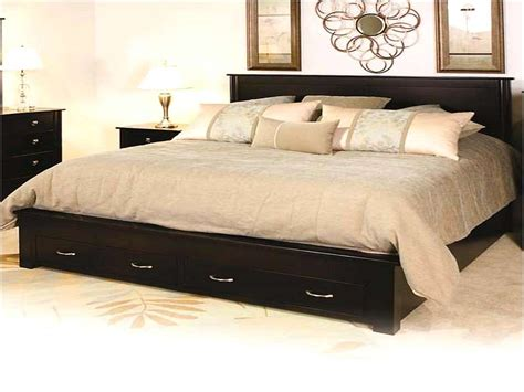 King Size Bed Frame With Storage Drawers Home Design Remodeling Ideas
