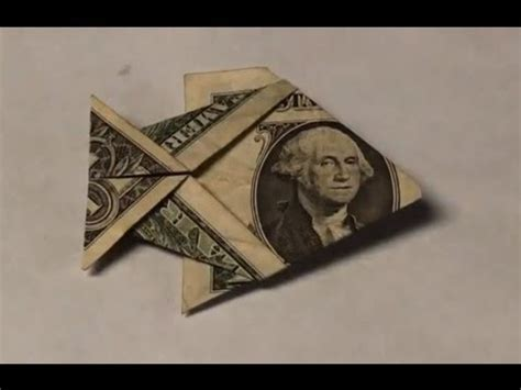 Easy Origami With A Dollar Bill - dollar bill origami fish tutorial how to make an easy