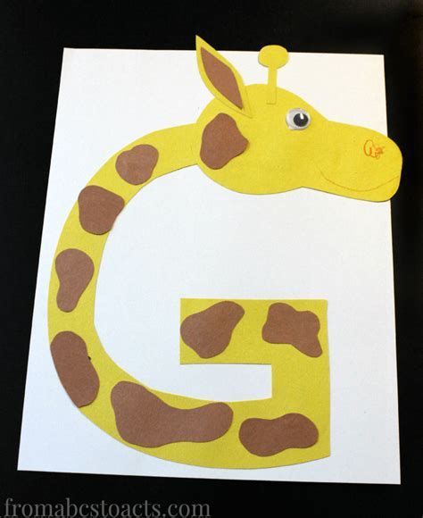 giraffe breakup letter preschool alphabet book uppercase letter g from abcs to