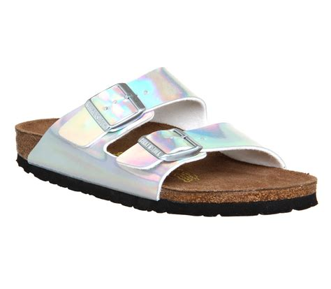 Two Sandals Womens - womens birkenstock arizona two silver mirror