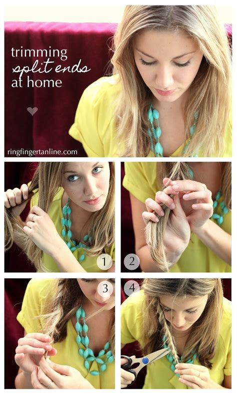 how to trim hair at home trim split ends at home hair make up nails