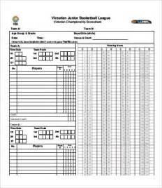 Basketball Score Sheet Template by Basketball Score Sheet 9 Free Pdf Documents
