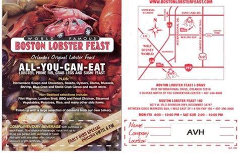 printable restaurant coupons orlando fl boston lobster feast orlando free printable discount