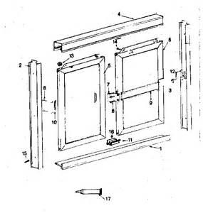 shower door replacement parts sears shower door parts model 392685680 sears partsdirect