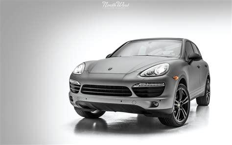 Porsche Cayenne Full Matte Silver Vehicle Wrap With Custom