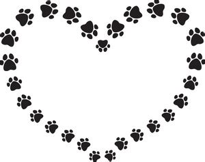 dog paw prints border clipart wikiclipart