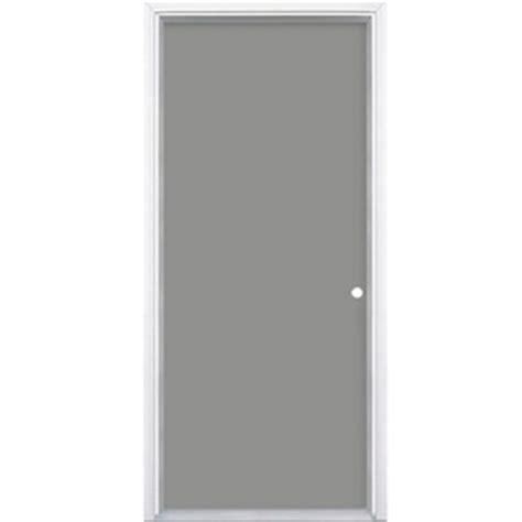 28 X 80 Exterior Door Shop Masonite Flush Insulating Left Inswing