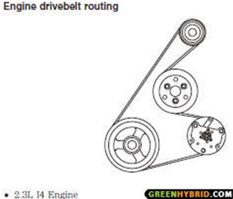 serpentine drive belt diagram greenhybrid hybrid cars