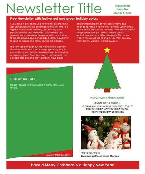christmas newsletter templates psd eps ai