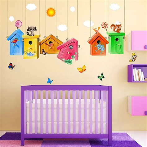 Birdcage Room Decor by Colorful Birdcage Wall Stickers For Room Decor In Sammydress