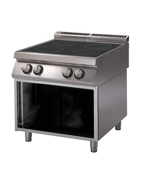 mobile per piano cottura cucina a induzione per ristoranti n 176 4 zone di cottura su