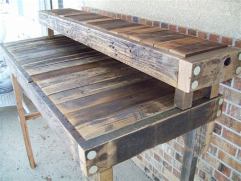 Reclaimed Wood Standing Desk In A Natural Finish Aftcra